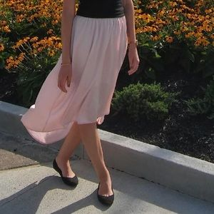 Blush Pink High-Low Skirt